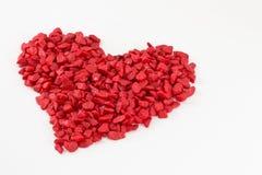 Rood hart van steen Stock Illustratie