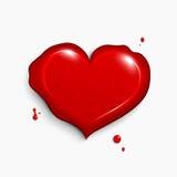 Rood hart. Vector illustratie Stock Afbeeldingen