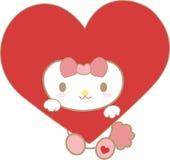 Rood hartbeeldverhaal royalty-vrije stock foto's