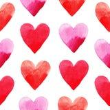 Rood hartenpatroon Royalty-vrije Stock Foto