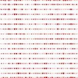Rood hartenpatroon Goed voor textiel en document druk, kaart, affiche, een ander ontwerp De leuke vector van Heilige Valentine Da vector illustratie