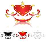 Rood hartpatroon Royalty-vrije Stock Fotografie