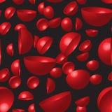 Rood Hemisferen Naadloos Patroon Stock Afbeelding