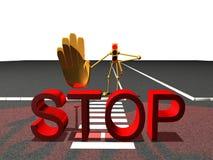 Rood het eindeteken van het verkeerszebrapad vector illustratie