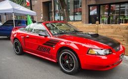 Rood het Rennen Mustang GT Stock Foto's