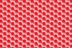 Rood Honingraat origineel ornament stock illustratie