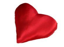 Rood hoofdkussen als hart Stock Afbeelding
