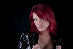 Rood hoofdmodel Stock Fotografie