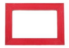 Rood houten frame Stock Afbeelding