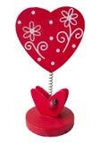 Rood houten hart Royalty-vrije Stock Afbeelding