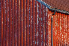 Rood houten huis Royalty-vrije Stock Foto