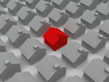 Rood huis Stock Illustratie