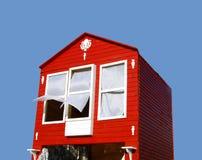 Rood huis Stock Fotografie