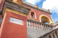 Rood Huis Pompeiana in Capri, Italië Royalty-vrije Stock Afbeelding