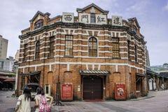 Rood Huistheater in Ximending Royalty-vrije Stock Foto's