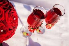 Rood huwelijksboeket Royalty-vrije Stock Foto