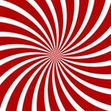 Rood Hypnose Spiraalvormig Patroon Optische illusie Royalty-vrije Stock Fotografie