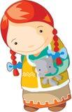 Rood Indisch meisje Stock Afbeelding