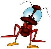 Rood Insect Met lange benen Royalty-vrije Stock Fotografie