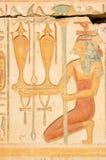 Rood ISIS met wijn, Oud Egypte stock fotografie