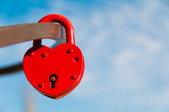 Rood kasteel in de vorm van hart Stock Afbeelding