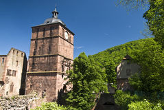 Rood Kasteel in Heidelberg Stock Foto
