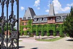 Rood kasteel in Hradec nad Moravici stock fotografie