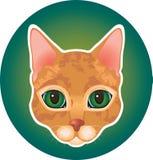 Rood kattenpictogram Royalty-vrije Stock Afbeelding
