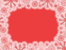 Rood Kerstmisframe stock illustratie