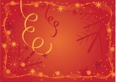 Rood Kerstmisframe Stock Foto