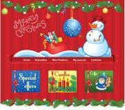 Rood Kerstmismalplaatje Stock Foto