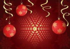 Rood Kerstmisontwerp Royalty-vrije Stock Foto's
