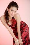 Rood kledingsmeisje Royalty-vrije Stock Afbeeldingen