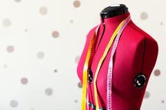Rood kleermakersmodel Royalty-vrije Stock Afbeelding