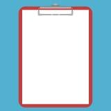 Rood klembord, Witboek Vector Illustratie