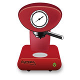 Rood Koffiezetapparaat Stock Afbeeldingen