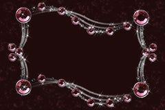 Rood kristal op een bruin Stock Foto