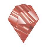 Rood kristal Vector illustratie Gefacetteerd juweel Een mooie diamant Stock Fotografie