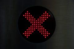 Rood kruis die geen ingang tonen Royalty-vrije Stock Foto's