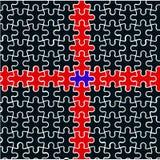 Rood kruis van raadsels vector illustratie