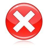 Rood kruisknoop - het afval, verkeerd antwoord, annuleert Royalty-vrije Stock Fotografie