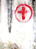 Rood kruispost royalty-vrije stock afbeelding