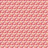Rood kubussenpatroon Stock Afbeelding