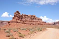 Rood land in Utah, de V.S. Stock Fotografie