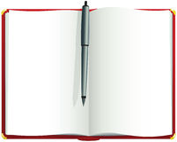 Rood leeg dagboek Stock Foto's