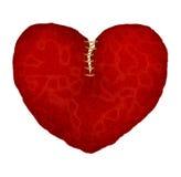 Rood leer gebroken hart Stock Afbeelding