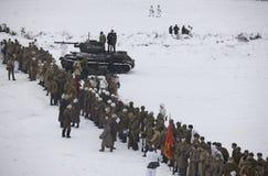Rood Leger van tijden van Grote Patriottische Oorlog (WO.II) Stock Afbeeldingen