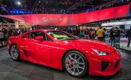 Rood Lexus LFA Stock Foto's