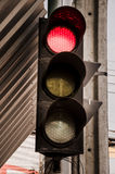Rood licht bij de kruising Stock Fotografie