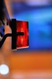 Rood licht op camera Stock Afbeeldingen